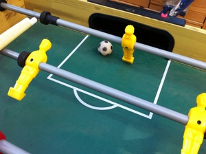 Eye-candy: picture of a table football goal