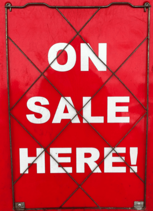 photo of on sale here poster